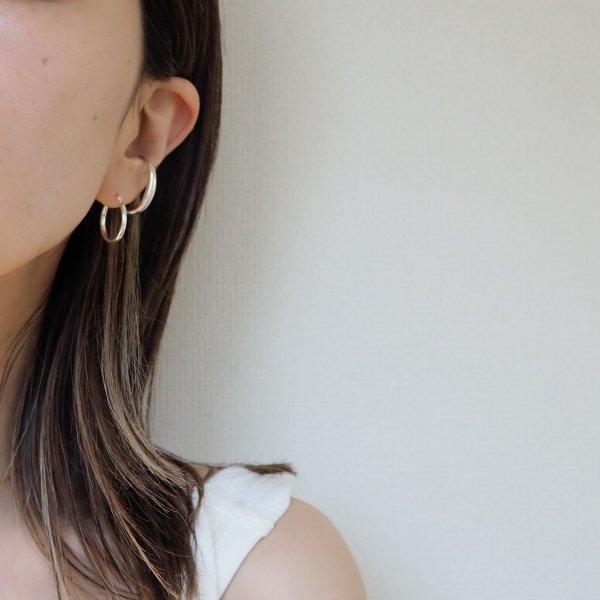 银色 925 圈形耳环 S 耳环单独出售