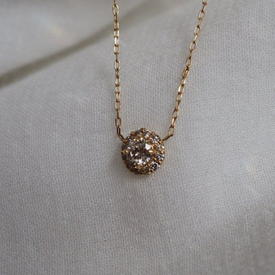18k ダイヤモンドネックレス「Sun」予約 40cm (5cmアジャスターオプションあり)