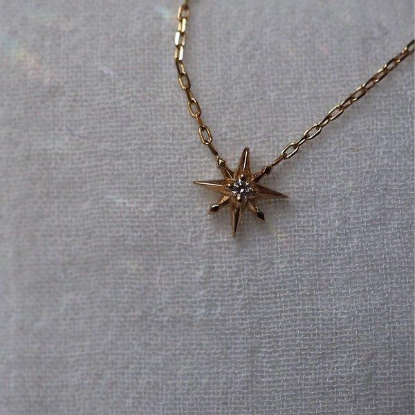 18k八点星ダイヤモンドネックレス「8」予約 40cm (5cmアジャスターオプションあり)