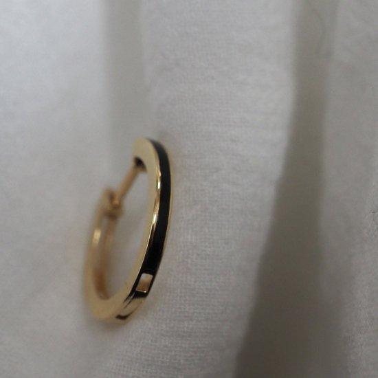 (1 件) 18k 缟玛瑙圈形耳环