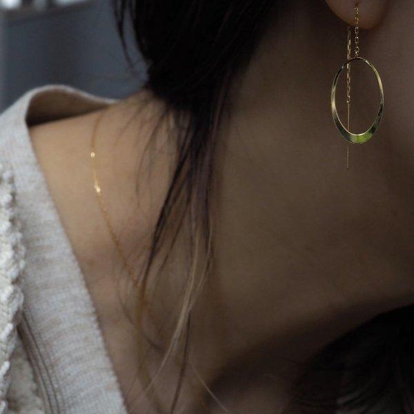 (1 件) 18k 链式椭圆形耳环