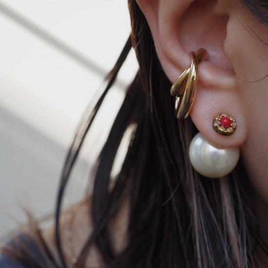 红珊瑚小号(选择耳环或低过敏耳环)珍珠捕获单独出售