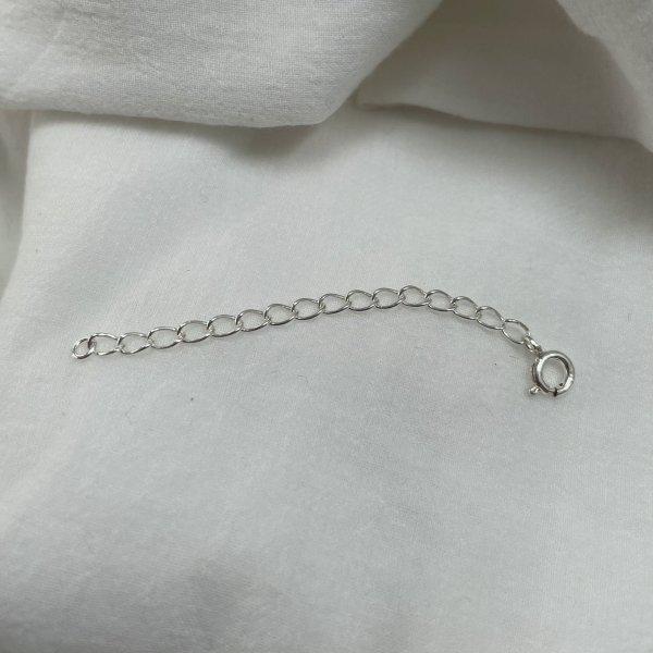 银 925 项链 5cm 延长调节器(选择颜色)