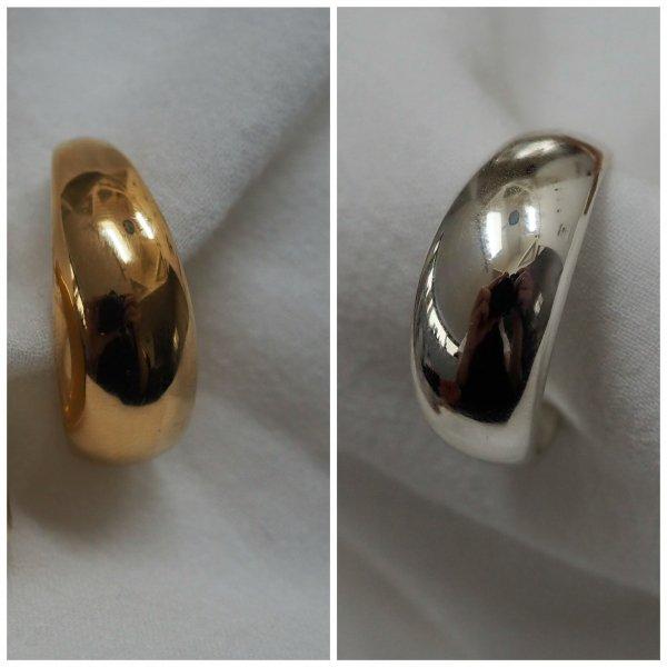 (1piece) NewMoon 耳环,银质925(请选择穿孔耳环或耳环颜色 * 金色为加费)
