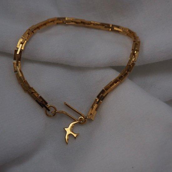金色 Si03chain 手链(选择一种长度和魅力)