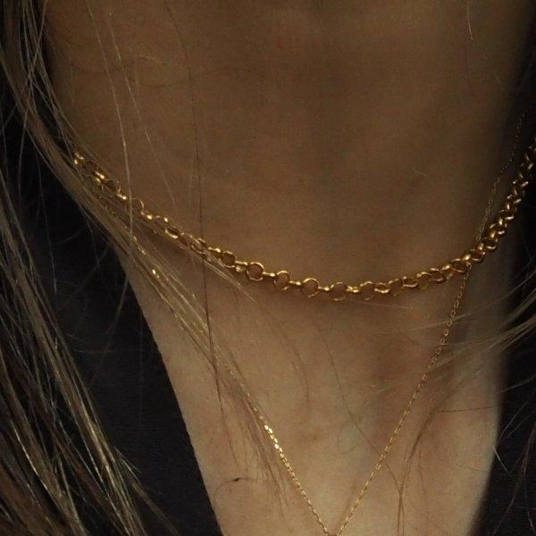 金色 Ma01 HV 项链(长度可达 40 厘米)