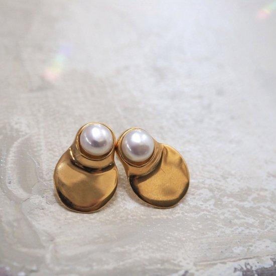 ไข่มุกน้ำจืดดารุมะ แบบทอง (แบบเจาะหูหรือต่างหู)