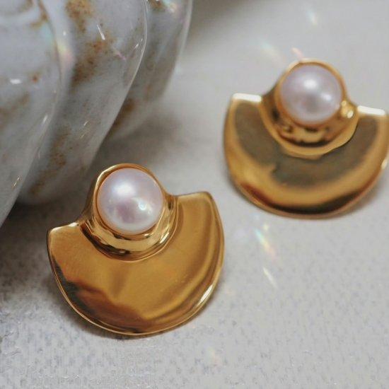 ไข่มุกน้ำจืด Que Gold Type (เจาะต่างหูหรือต่างหู)