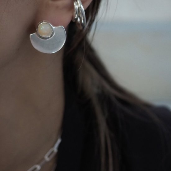 Silver Type Que เอธิโอเปียโอปอล (เจาะต่างหูหรือต่างหู)