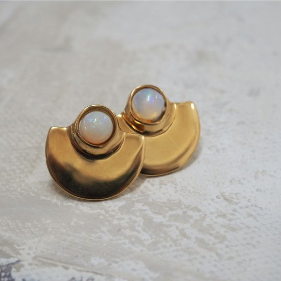 Gold Type Que เอธิโอเปียโอปอล (เจาะต่างหูหรือต่างหู)