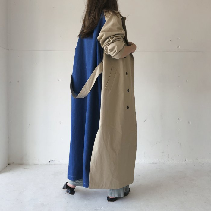 Long coat(denim blue)