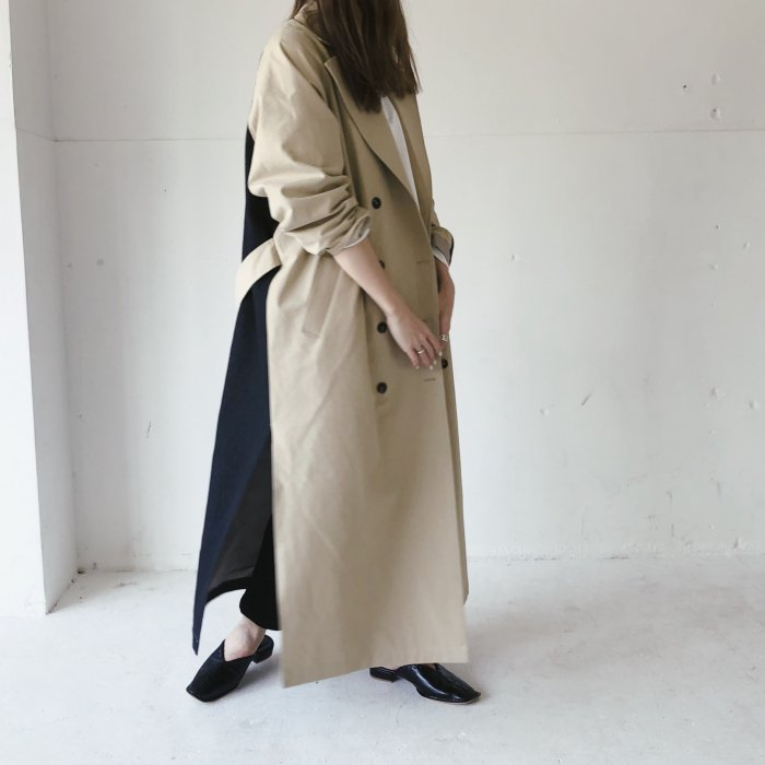 Long coat(denim black)