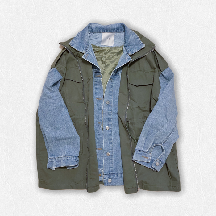Denim layered mili JK