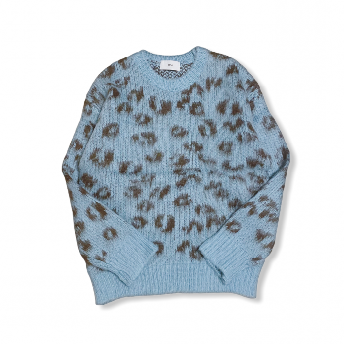 Leopard knit (BLUE)