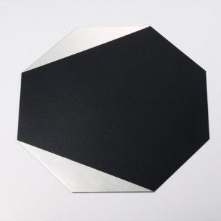 八角プレート 黒部分漆仕上