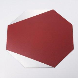 八角プレート 赤部分漆仕上