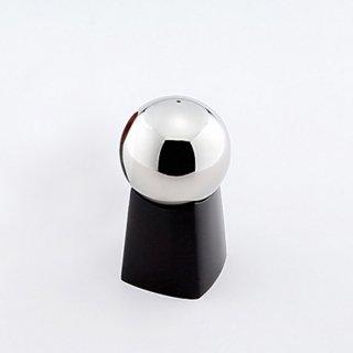 塩/胡椒入れ 鏡面球/黒漆台