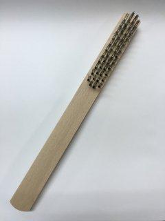 好川産業 ワイヤーブラシ(白線)直柄4行