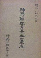 神奈川県教育五十年史年表