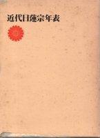 近代日蓮宗年表