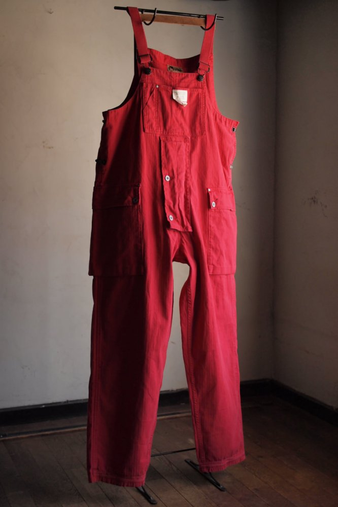 NAVAL DUNGAREE COTTON HERRINGBONE RED