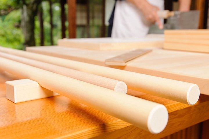 そば打ち道具 麺棒置き(3本用)2個セット