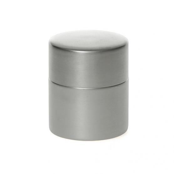 東屋の茶筒 錫メッキ 中 メインイメージ