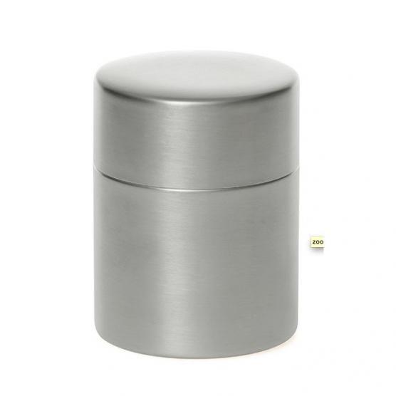 東屋の茶筒 錫メッキ 大 メインイメージ