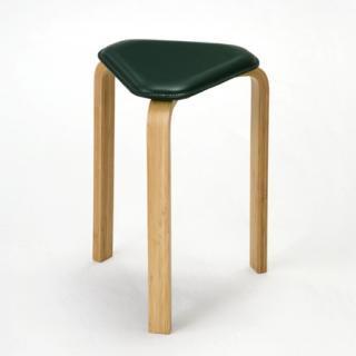 喜多俊之 竹のスタッキングスツール  (low) グリーン