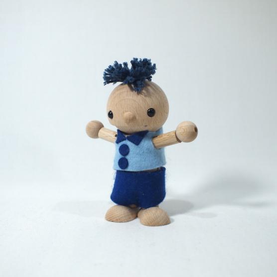 着せ替え木の人形 ひのき(男の子タイプ) おもちゃのこまーむ メインイメージ