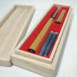 世界にひとつの天然竹の筆ペン(桐箱入)