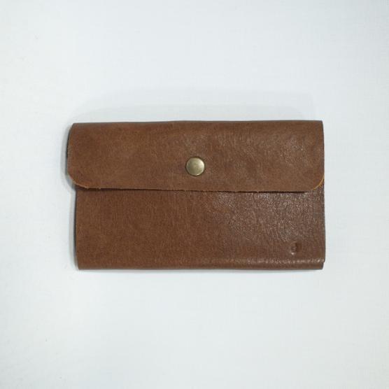 1枚革のカード入れ ブラウン メインイメージ