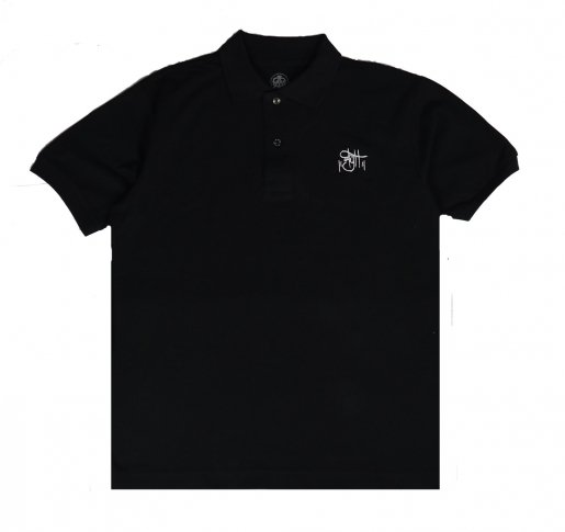AGIT OG  Logo Basic Polo(Black×White)