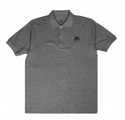 AGIT OG  Logo Basic Polo(Grey×Black)