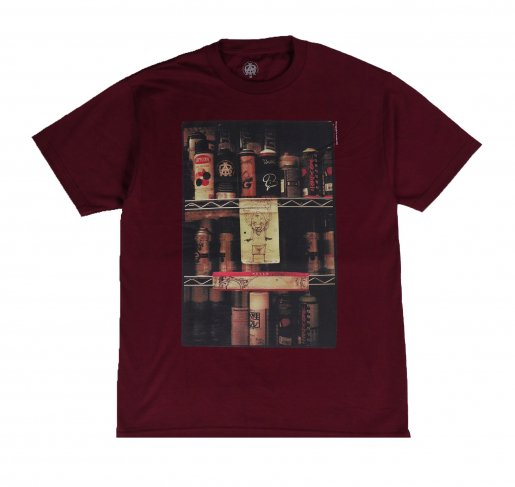 AGIT Spray Cans Photo T-shirt(Burgundy)