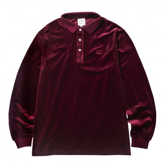 BORNXRAISED VELOUR SHIRT(Burgundy)