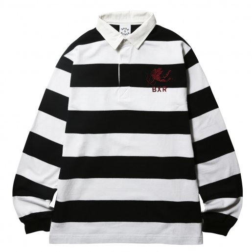 BORNXRAISED RUGBY SHIRT(White×Black)