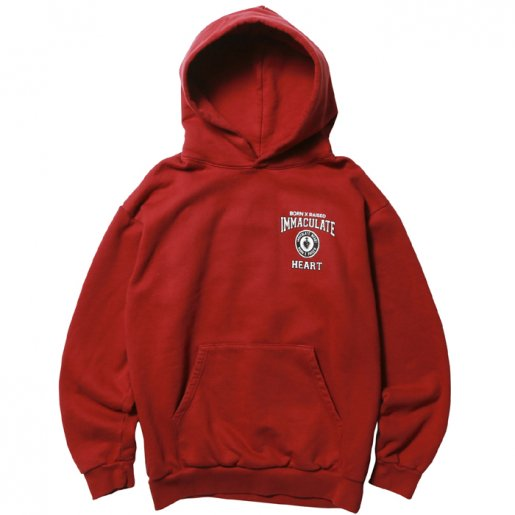 BORNXRAISED SCHOOL UNIFORM HOODY(Burgundy)