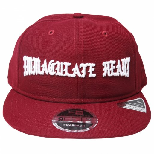 BORNXRAISED  IMMACULATE HEART STRAP BACK(Burgundy)