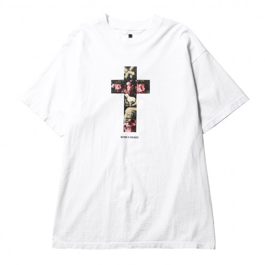 BORN X RAISED CRUCIFIY TEE(White)