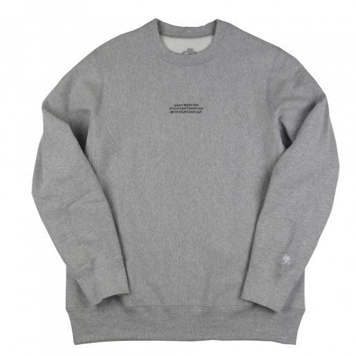 AGIT High Grade Sweat Collection Crew Neck(Heather Grey×Black)