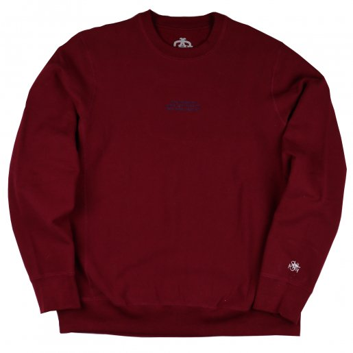 AGIT High Grade Sweat Collection Crew Neck(Burgundy×Navy)