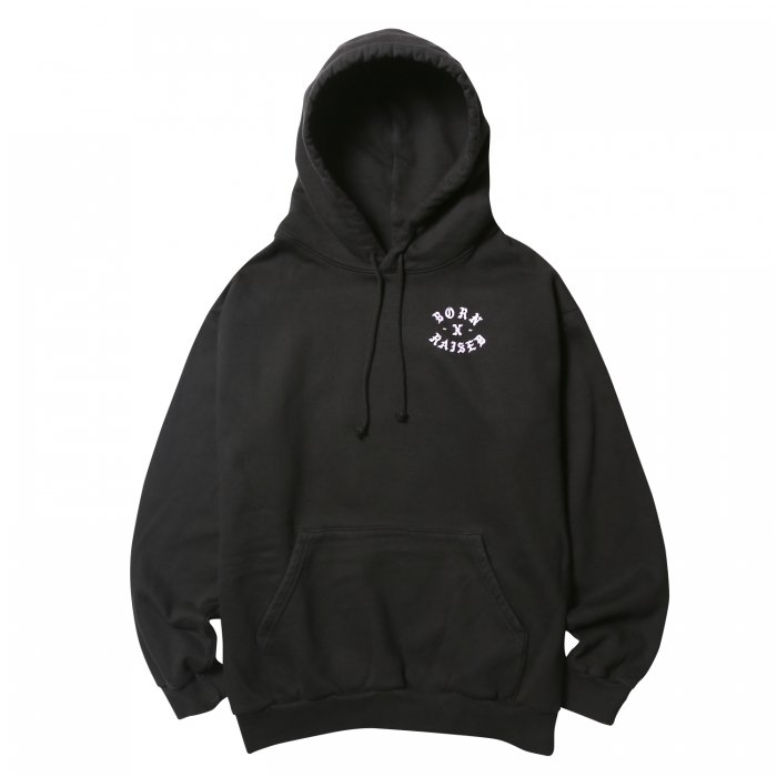 <img class='new_mark_img1' src='//img.shop-pro.jp/img/new/icons50.gif' style='border:none;display:inline;margin:0px;padding:0px;width:auto;' />BORN X RAISED PRINCESSA ROCKER HOODY(Black)