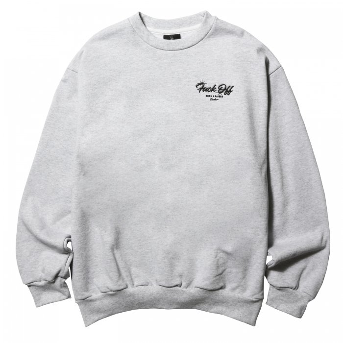 BORN X RAISED STUDIOS CREWNECK(Heather)