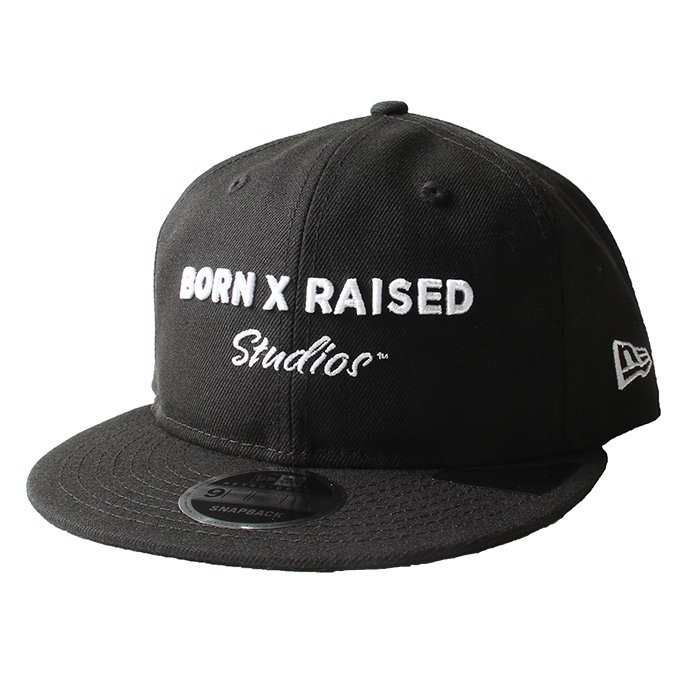 BORN X RAISED STUDIOS DAD HAT(Black)