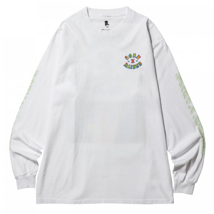 BORN X RAISED HEAT SEEKER L/S TEE(White)