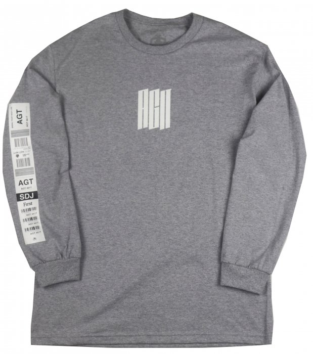 AGIT Luggage Tag L/S Tee(Grey)