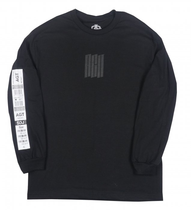AGIT Luggage Tag L/S Tee(Black)