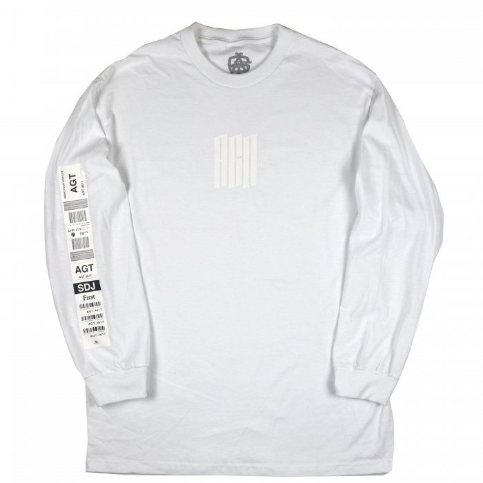 AGIT Luggage Tag L/S Tee(White)