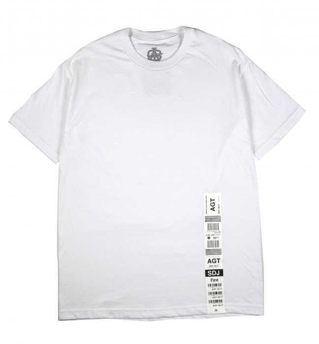 AGIT Luggage Tag S/S tee(White)